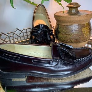 Cole Haan Tassel Shoes Men's Burgundy 9D #EL054